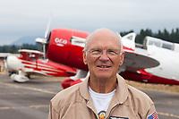 Rich Alldredge, Pilot, Gee Bee QED II Airplane, Arlington Fly-In 2015, Washington State, WA, America, USA.