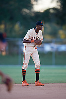 Myles Austin during the WWBA World Championship at the Roger Dean Complex on October 19, 2018 in Jupiter, Florida.  Myles Austin is a shortstop from Smyrna, Georgia who attends Westlake High School and is committed to Alabama.  (Mike Janes/Four Seam Images)