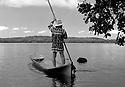 James E. Billie in Dugout Canoe