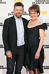 "Andy Serkis and his wife attend the Premiere of the movie ""Dawn of the Planet of the Apes"" at Capitol Cinema in Madrid, Spain. July 16, 2014. (ALTERPHOTOS/Carlos Dafonte)"