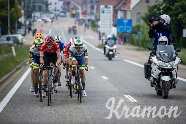 Connor Swift (GBR/Arkea Samsic), Danny Van Poppel (NED/Intermarche-Wanty Gobert), Boy Van Poppel (NED/intermarche-Wanty-Gobert) in the break away group<br /> <br /> 17th Dwars Door Het Hageland 2021<br /> One Day Race: Aarschot – Diest 18Okm (UCI 1.Pro)<br /> Bingoal Cycling Cup 2021<br /> <br /> ©kramon