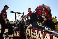 Mar. 13, 2011; Gainesville, FL, USA; NHRA top fuel dragster driver Del Worsham during the Gatornationals at Gainesville Raceway. Mandatory Credit: Mark J. Rebilas-