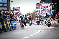 Later race winner Dries de Bondt (BEL/Corendon Circus leading the breakaway group into the final lap on the local parcour. <br /> <br />  23th Memorial Rik Van Steenbergen 2019<br /> One Day Race: Beerse > Arendonk 208km (UCI 1.1)<br /> ©kramon