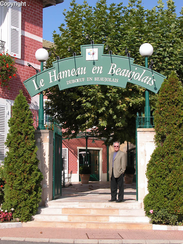 Guy at the home of Beaujolais Noveau; Georges DuBoeuf in France.