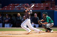 Union Dutchmen catcher Harrison Glatt (31) at bat in front of catcher Joseph Roche during a game against the Farmingdale Rams on March 21, 2016 at Chain of Lakes Stadium in Winter Haven, Florida.  Farmingdale defeated Union 17-5.  (Mike Janes/Four Seam Images)