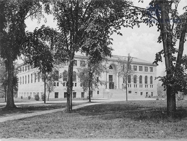 GNDL 5/05:  Bond Hall exterior, c1920s..Image from the University of Notre Dame Archives.