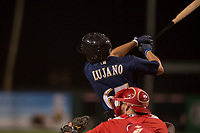 Milwaukee Brewers left fielder Jesus Lujano (67) during a Minor League Spring Training game against the Los Angeles Angels at Tempe Diablo Stadium on March 29, 2018 in Tempe, Arizona. (Zachary Lucy/Four Seam Images)