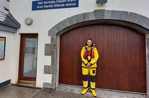The new full-time Aran Islands RNLI mechanic, Mairtín Eoin Coyne