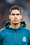 Raphael Varane of Real Madrid getting into the field during the Europe Champions League 2017-18 match between Real Madrid and Borussia Dortmund at Santiago Bernabeu Stadium on 06 December 2017 in Madrid Spain. Photo by Diego Gonzalez / Power Sport Images
