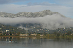 Mill Valley residents woke up to a white Mount Tam which covered the mountain with a dusting of snow overnight.