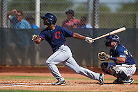 Cleveland Indians Silento Sayles (15) during an instructional league game against the Milwaukee Brewers on October 8, 2015 at the Maryvale Baseball Complex in Maryvale, Arizona.  (Mike Janes/Four Seam Images)