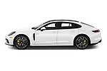Car Driver side profile view of a 2019 Porsche Panamera 4-E-Hybrid 5 Door Hatchback Side View