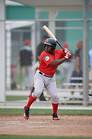 Boston Red Sox Josh Tobias (11) bats during a minor league Spring Training intrasquad game on March 31, 2017 at JetBlue Park in Fort Myers, Florida. (Mike Janes/Four Seam Images)