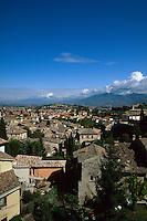 Blickauf Spoleto, Umbrien, Italien