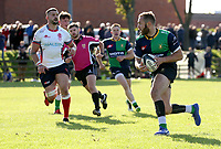 Saturday 26th September 2020 | Malone vs Ballynahinch<br /> <br /> Ross Adair on the attack for Ballynahinch during the Ulster Senior League fixture between Malone and Ballynahinch at Gibson Park, Belfast, Northern Ireland. Photo by John Dickson / Dicksondigital