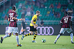 Borussia Dortmund Midfielder Andre Schurrle (C) in action against AC Milan Defender Cristian Zapata (R) during the International Champions Cup 2017 match between AC Milan vs Borussia Dortmund at University Town Sports Centre Stadium on July 18, 2017 in Guangzhou, China. Photo by Marcio Rodrigo Machado / Power Sport Images