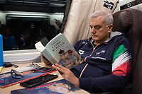 Sandro Campagna <br /> in viaggio per <br /> Milano per ritirare il premio <br /> Gazzetta Sports Awards<br /> Roma  18/12/2019 <br /> <br /> Photo Diego Montano Deepbluemedia /insidefoto