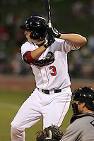 Great Lakes Loons Blake Smith (3) during a game vs. the Dayton Dragons at Dow Diamond in Midland, Michigan August 19, 2010.   Great Lakes defeated Dayton 1-0.  Photo By Mike Janes/Four Seam Images