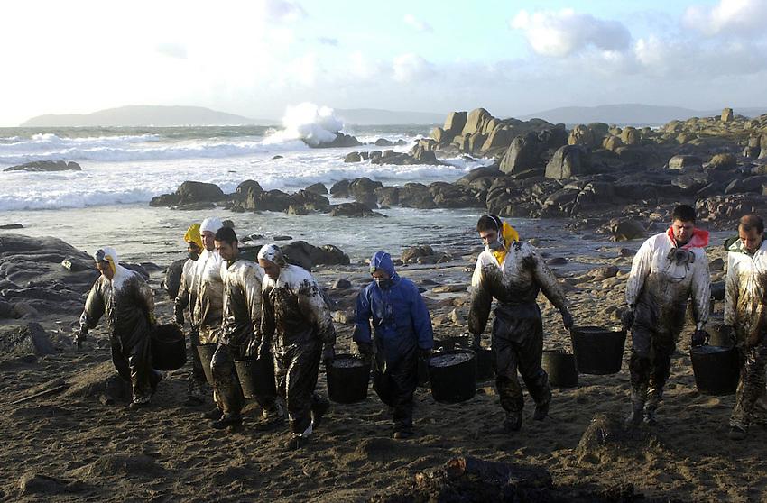 Prestige boat sank in November 2002 in the Galician coast.<br /> Photo: Ander Gillenea
