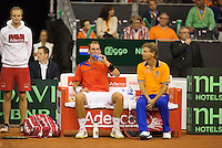 September 14, 2014, Netherlands, Amsterdam, Ziggo Dome, Davis Cup Netherlands-Croatia, Thiemo de Bakker on the Dutch bench<br /> Photo: Tennisimages/Henk Koster