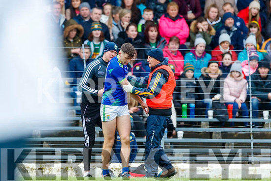 David Clifford, Kerry is injured during the Allianz Football League Division 1 Round 4 match between Kerry and Meath at Fitzgerald Stadium in Killarney, on Sunday.