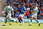 01.09.2019 Rangers v Celtic: Connor Goldson misplaces a clearance leading to a Celtic breakaway and goal