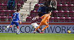 29.02.2020 Hearts v Rangers: Lewis Moore goes around Allan McGregor to set up Ollie Bozanic