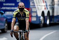 If it weren't for the pandemic, Michael Albasini (SUI/Mitchelton-Scott) would've been a cycling pro retirée by now...<br /> <br /> 'La Primavera' (Spring) in summer!<br /> 111st Milano-Sanremo 2020 (1.UWT)<br /> 1 day race from Milano to Sanremo (305km)<br /> <br /> the postponed edition > exceptionally held in summer because of the Covid-19 pandemic calendar reshuffle