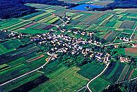 Vista aérea da região de Stubenberg. Áustria. 1987. Foto de Ricardo Azoury.