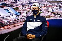 23rd September 2021; Sochi, Russia;  F1 Grand Prix of Russia 10 Pierre Gasly FRA, Scuderia AlphaTauri Honda, F1 Grand Prix of Russia at Sochi Autodrom   driver press conference