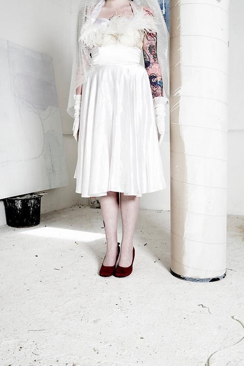Model: Melissa Hayward.Make up: Melissa Hayward.Photographer: Angela Halpin.Location: Red Tree