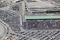 aerial photograph of long term automobile parking San Francisco International airport SFO