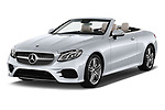 2018 Mercedes Benz E Class Base 2 Door Convertible angular front stock photos of front three quarter view