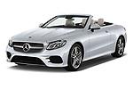 2018 Mercedes Benz E Class Base 2 Door Convertible angular front stock photos of front three quarter view
