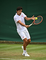 1st July 2021; Wimbledon, SW London. England; Wimbledon Tennis Championships, day 4;  Cristian Garin , Chile