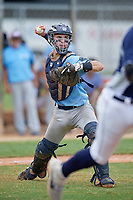 Charlie Saum (53) during the WWBA World Championship at the Roger Dean Complex on October 12, 2019 in Jupiter, Florida.  Charlie Saum attends Thousand Oaks High School in Thousand Oaks, CA and is committed to Stanford.  (Mike Janes/Four Seam Images)