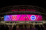 West Ham United 0 Brighton & Hove Albion 3, 20/10/2017. London Stadium, Premier League.  The London Stadium an hour before kick off. Photo by Simon Gill.
