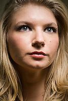 Beauty shot of blonde woman