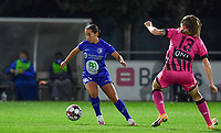 Rkia Mazrouai (2 Gent) pictured during a female soccer game between  AA Gent Ladies and Sporting Charleroi Feminin on the fifth matchday of the 2020 - 2021 season of Belgian Scooore Womens Super League , friday 16 th of October 2020  in Oostakker , Belgium . PHOTO SPORTPIX.BE | SPP | DAVID CATRY