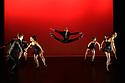 London, UK. 14.02.20. Elmhurst Ballet Company, the graduate company from Elmhurst Ballet School, perform in the dress rehearsal of 'Synergy' at the Lilian Baylis Studio, Sadler's Wells. The piece shown is: Swing Mob, choreographed by Jenny MacNamara. The dancers are: Jennifer Beattie, Maisie Butler, Joshua Dart, Ruben Flynn-Kann, Lucy Elizabeth Fox, William Mitchell, Jakob Myers, Emily Ormsby, Grace Owen, Olivia Parham, Mia Stapleton, with Year 13's Lydia Brayshaw, Yuzuka Kogure, Finnley McSherry, Ben Randall. Photograph © Jane Hobson.