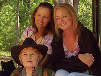 Mother and daughters at Mom's 70th birthday party.