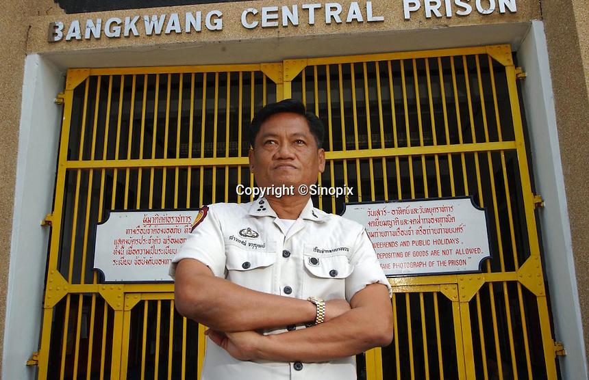 Thailand's only executioner Chawalate Jarubun of Bangkwang Central prison.