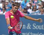Roger Federer (SUI) wins against Novak Djokovic (SRB) 7-6, 6-2