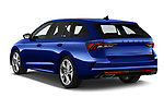 Car pictures of rear three quarter view of 2020 Skoda Octavia-Combi RS 5 Door Wagon Angular Rear