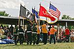 Native American color guard.