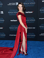 "LOS ANGELES, USA. December 17, 2019: Daisy Ridley at the world premiere of ""Star Wars: The Rise of Skywalker"" at the El Capitan Theatre.<br /> Picture: Paul Smith/Featureflash"