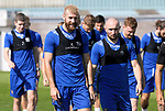 St Johnstone Training....   McDiarmid Park   10.08.21<br />Shaun Rooney and Chris Kane pictured during training this morning ahead of Thursday's Europa League Qualfier against Galatasaray.<br />Picture by Graeme Hart.<br />Copyright Perthshire Picture Agency<br />Tel: 01738 623350  Mobile: 07990 594431