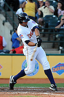 Brooklyn Cyclones infielder Jeff Flagg (32) during game against the Staten Island Yankees at MCU Park in Brooklyn, NY June 19, 2010. Cyclones won 9-6.  Photo By Tomasso DeRosa/Four Seam Images