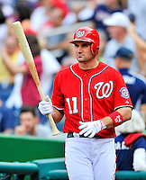 24 September 2011: Washington Nationals third baseman Ryan Zimmerman in action against the Atlanta Braves at Nationals Park in Washington, DC. The Nationals defeated the Braves 4-1 to even up their 3-game series. Mandatory Credit: Ed Wolfstein Photo