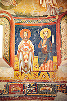 The Romanesque Apse of Bugal. Late XI - XII century, fresco transplanted to canvas from the Churches of the old St. Peter's Monastery Burgal, La Guingueta, Spain. National Art Museum of Catalonia, Barcelona. MNAC 113138